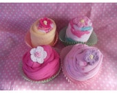 Baby Cupcake Spring Flower Baby Shower Gift - Baby Girl - Unique Gift