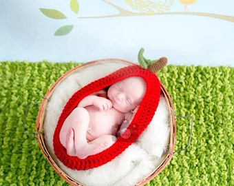 Newborn Apple Cocoon Photography Prop