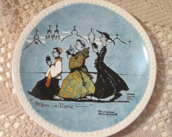 "Vintage Norman Rockwell ""When In Rome"" Plate"