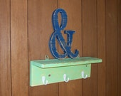 Ampersand Distressed Wood Letter 12-inch Monogram Initial
