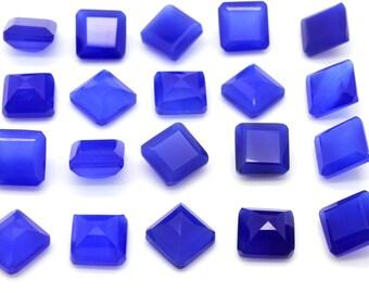 GCF-1188 - Blue Onyx Gemstone - Round 10x10mm - Calibrated Gemstones - AA Quality - 1 Pc
