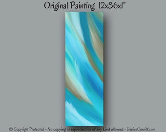 Tan and teal home decor, Aqua teal turquoise abstract art, Taupe and teal painting, Office decor, Teal wall art, Turquoise & brown artwork