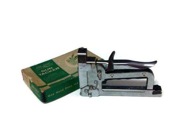 Vintage Duo Fast Gun Tacker Model Ct 859 Staple Gun