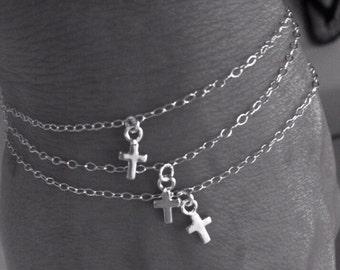Nothing But The Sterling Silver Cross Charm Bracelet