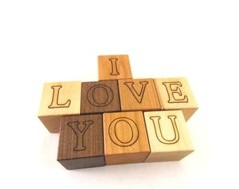 Any Number Personalized Wooden Name Blocks - Alphabet Building Blocks, perfect for play and nursery decor