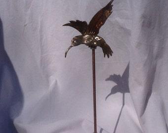 NEW Tiny Little Hummingbird Garden Stake