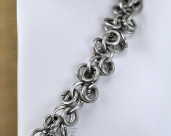 "Stainless Steel Square Wire Chainmail Shaggy Loops Bracelet - ""Shaggy Klinker"""