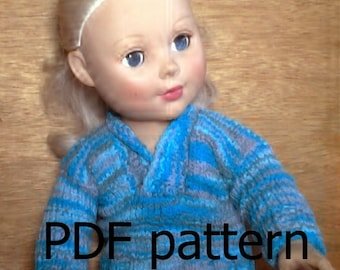 040 Knit shawl collared sweater for American Girl doll