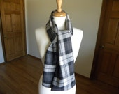 Traditional Plaid Scarf, Father's Day, Men's Scarf, Winter Scarf