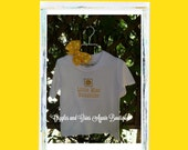 Little Miss Sunshine Tee Shirt or Body Suit  - 6 - 24 months - 2 - 6x - Includes Hair Bow
