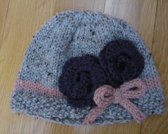 Knit Cloche with Flower