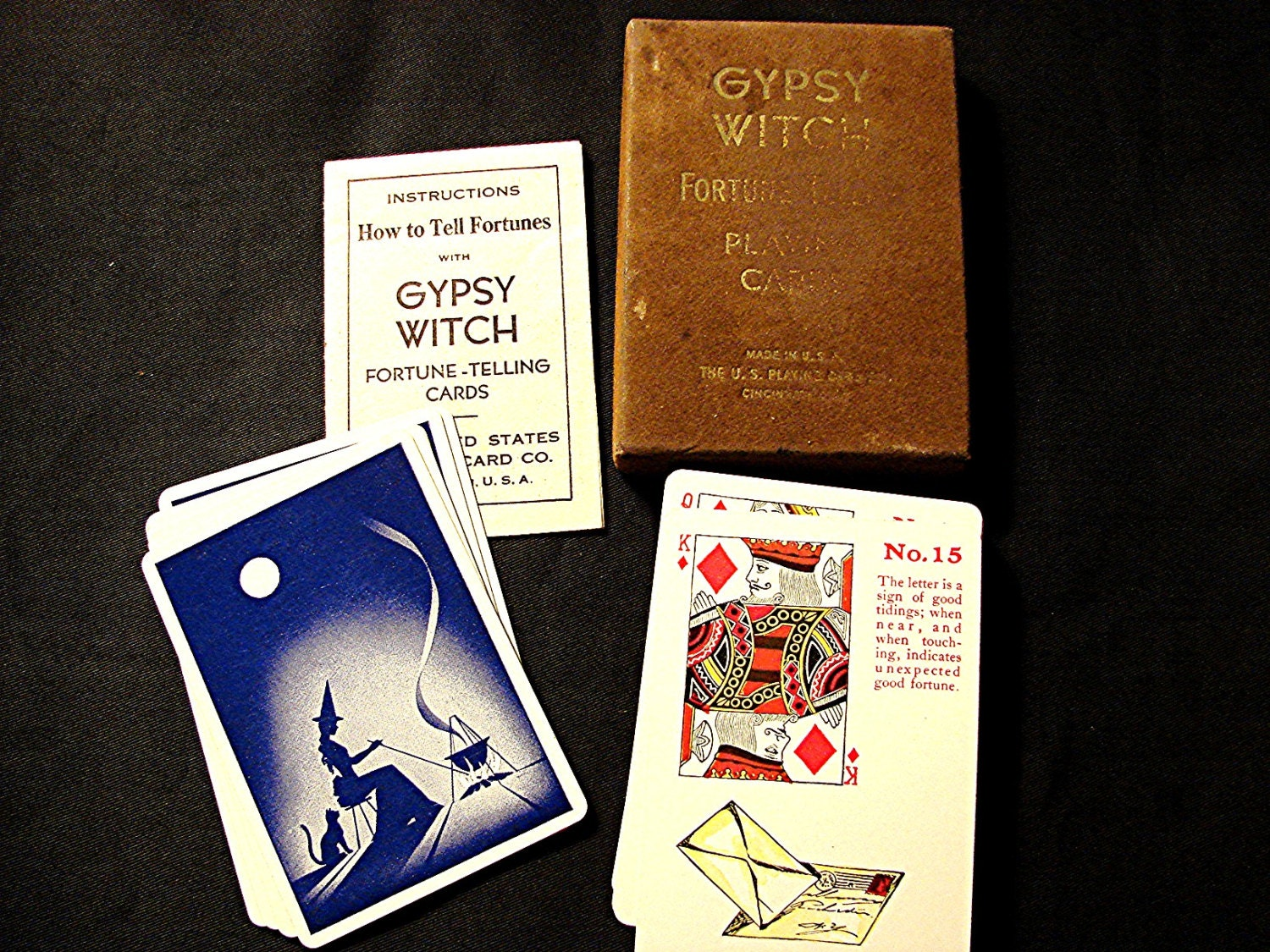 early 1900s Vintage Antique Fortune Telling Cards Gypsy Witch