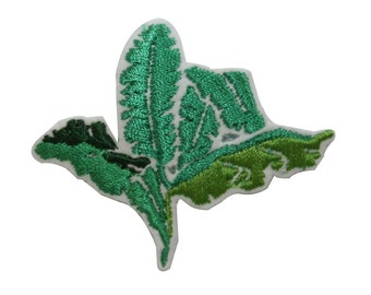 ID #7203 Bush Plant Green Leaf Flora Leaves Iron On Embroidered Patch Applique