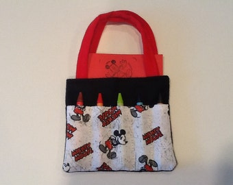 Mickey Mouse Children's Crayon Bag, Birthday Party Favor