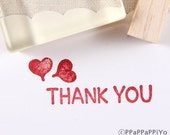 Heart & thank you Rubber Stamp set