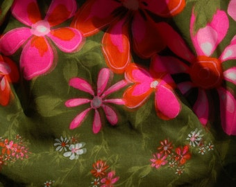1960's floral two piece pant suit by Ja-Na of Hawaii