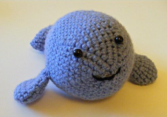 Whale Amigurumi Blue : Blue Stuffed Whale Made to Order Stuffed Toy Amigurumi
