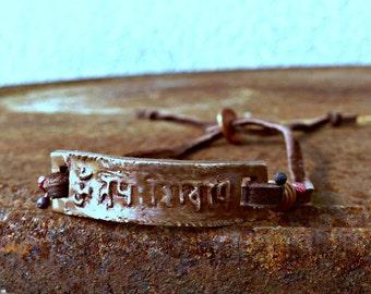 Om namah shivaya Sanskrit mantra bracelet honor the divine within