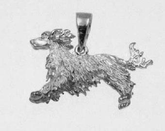 3D RUNNING IRISH SETTER Charm in 925 Sterling Silver  24-19