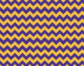 Small Chevron Purple/Gold by Riley Blake Designs - Half Yard Cut - Chevron Fabric