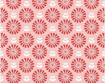 Twice as Nice by The Quilted Fish Riley Blake Fabric - Pink Garden -1 Yard - Cotton Fabric