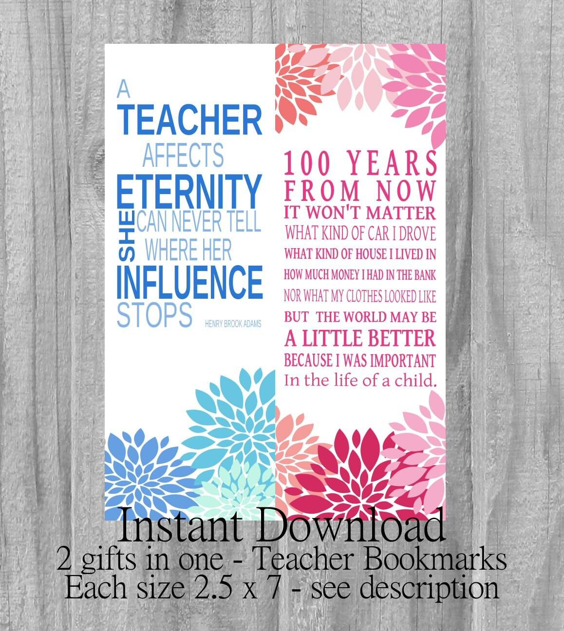 INSTANT DOWNLOAD Printable Teachers Gift Last Minute Gift Poem