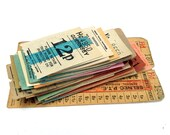 Bumper pack of Vintage British, Isle of Man and The Chanel Islands Transport Tickets. Paper ephemera, 40 tickets.