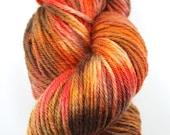Stipple dyed Peruvian Highland Wool - Strange Fire