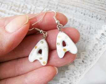 Personalized Earrings, Letter A, Initial Earring, Initial Dangle letters Earrings,Letter earrings, Initial earrings - Personalized jewelry