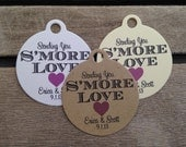 Wedding Gift Tags - Sending You S'more Love - Wedding Favor Tags - Customizable Personalized (WT1427)
