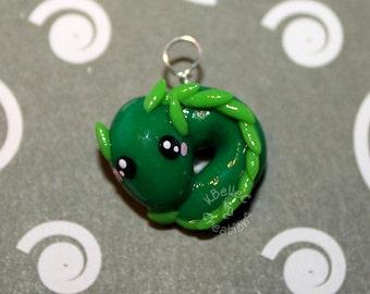 Kawaii Mini Green Dragon Charm