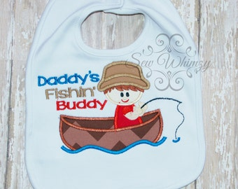 Daddy's Fishing buddy bib- fishing bib