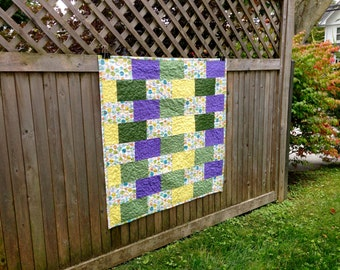 Custom Baby Quilt/Rectangles/Bridesmaid Dress Fabric - Repurpose, Upcycle, Memory Quilt