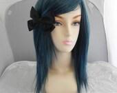 SUMMER SALE // Medium Straight Layered Wig - Beautiful Luscious Hair, Blue Mix Wig, Cosplay Wig, Costume Wig, Black Dark