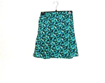Mini Skirt - Skater Skirt - Floral Skirt - 1960s Skirt - Cotton Skirt - Elastic Skirt - Womens Skirt - Rebeccas Clothes