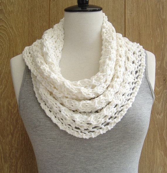 KNITTING PATTERN Lace Scarf Simple Knit by Richmondhillknits