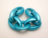 turquoise link chain - 5.5 inches