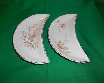 Two (2), Opaque Porcelaine, Side Bone Plates, from Bridgwood & Son, in a Unknown Pattern.