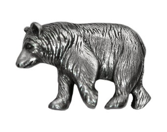 Danforth Black Bear 1 inch ( 24 mm ) Pewter Metal Button