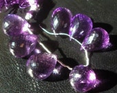 50% OFF SALE AAA Amethyst Faceted Teardrop Briolette Beads 18-22mm 1 Piece...Luxe, Royal, Violet, Purple, Weddings, February Birthstone,