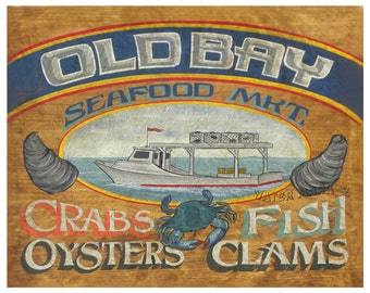 Old Bay Seasoning Seafood  Print