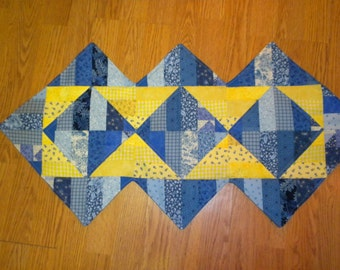 Yellow and Blue Table Runner