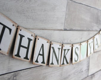 Thanks Yall Sign, Thank you Banner, Mint Wedding Decor, Southern Wedding Decor