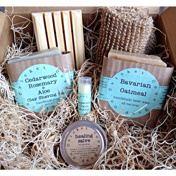 MEN'S SOAP SET -  Beer Soap Basket - Handmade Soap Gift Basket - gift box - beer soap - Father's Day