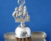 Table Crumber Brush And Pan Ship Motif England Dust Pan Hearth Brush 1940s