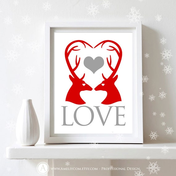 Wall Decoration Gifts : Items similar to printable valentines day decor print