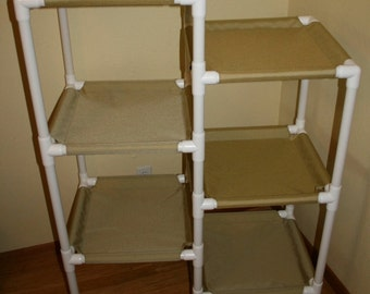 The 6 Tier Cat Condo, Larger Hammocks, Heavy Duty Cordura Fabric, choice of colors