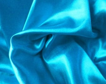 Stretch Charmeuse Turquoise 60 Inch #84
