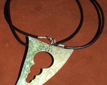 dyed aluminium pendant