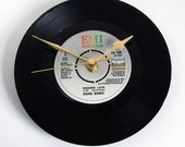 """David Bowie Vinyl Record CLOCK. """"Modern Love"""" or """"Let's Dance"""" or """"China Girl"""", Wedding, Anniversary gift, etc, black and grey, retro style"""